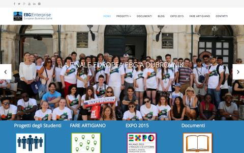 Screenshot of Home Page enterprise-ebg.eu - Enterprise-EBG  - HOME - captured Sept. 22, 2015