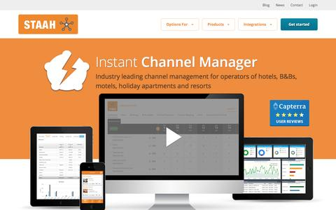 Screenshot of Products Page staah.com - STAAH | Instant Channel Manager | hotel channel management | hotel system - captured March 8, 2017