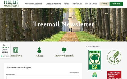 Screenshot of Signup Page hellistreeconsultants.co.uk - Treemail Newsletter - Hellis Tree Consultants - captured July 14, 2018