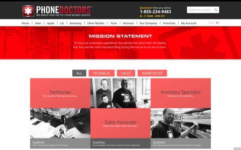 Screenshot of Jobs Page phonedoctors.com - Jobs - Phone Doctors® - captured Sept. 19, 2014