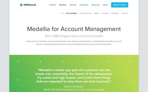 Account Management - Medallia
