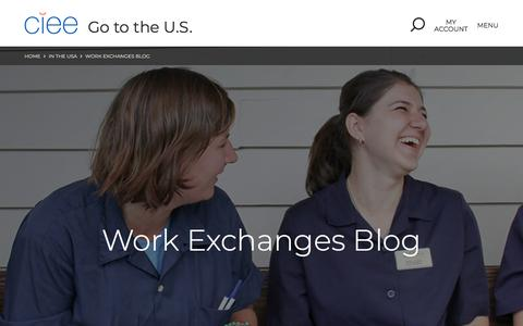 Screenshot of Blog ciee.org - Work Exchanges Blog | In the USA | CIEE - captured July 17, 2019