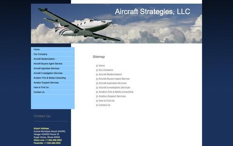 Screenshot of Site Map Page aviation-associates.com - Home Page | Aircraft Strategies, LLC - captured Sept. 30, 2014