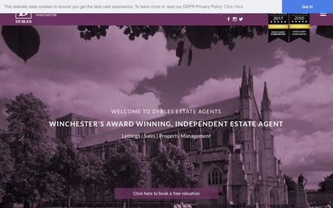 Screenshot of Home Page dybles.com - Dybles Estate Agents Winchester   Sales, Lettings, Property Management - captured Nov. 14, 2018
