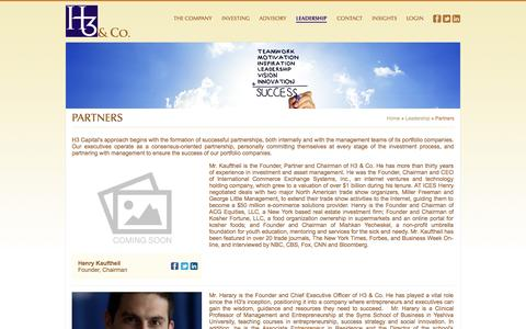 Screenshot of Team Page h3company.com - Partners | H3 & Co. - captured Oct. 1, 2014