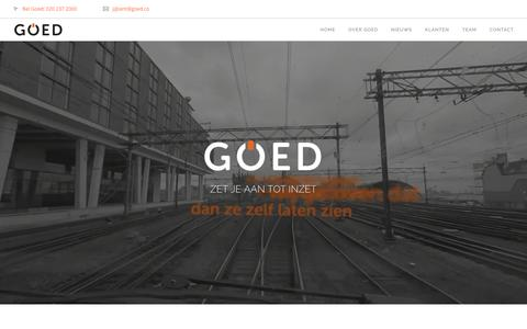 Screenshot of Home Page goed.co - Home - Goed - captured Jan. 17, 2017