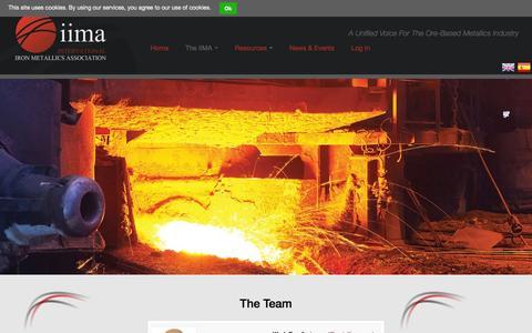 Screenshot of Team Page metallics.org.uk - The Team | International Iron Metallics Association - captured Oct. 6, 2014