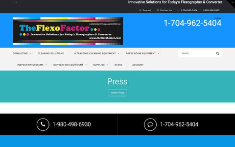 Screenshot of Press Page theflexofactor.com - Press - The Flexo Factor - captured Oct. 18, 2018
