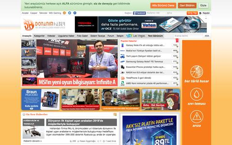 Screenshot of Home Page donanimhaber.com - DonanımHaber - Sık Sık Güncellenen Haber Sitesi - captured June 19, 2017