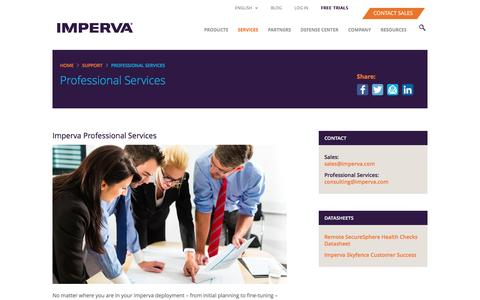 Screenshot of Team Page imperva.com - Professional Services for Your Entire Technology Lifecycle - captured Nov. 2, 2016