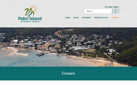Screenshot of Contact Page picc.com.au - Contact «  Palm Island Community Company - captured Jan. 25, 2016