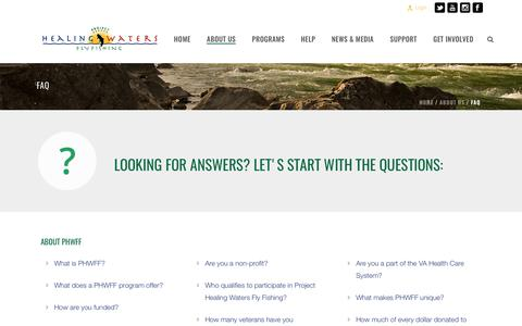 Screenshot of FAQ Page projecthealingwaters.org - FAQ – Project Healing Waters Fly Fishing - captured Aug. 29, 2017