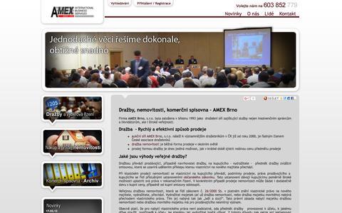 Screenshot of Home Page amex-brno.cz - Dražby, nemovitosti - captured June 13, 2016