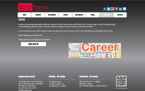 Screenshot of Jobs Page broteks.com - Careers - captured May 11, 2017