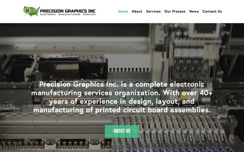 Screenshot of Home Page precisiongraphics.us - Home - Precision Graphics - captured Aug. 20, 2017
