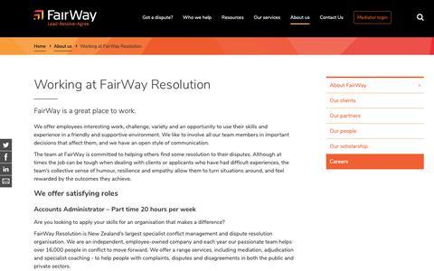 Screenshot of Jobs Page fairwayresolution.com - Working at FairWay Resolution | FairWay - captured Oct. 10, 2018
