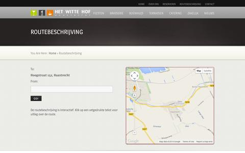 Screenshot of Maps & Directions Page hetwittehof.nl - Routebeschrijving - captured Sept. 30, 2014