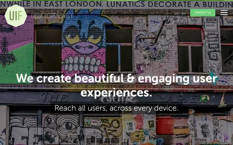 Screenshot of Home Page uifarm.co.uk - Responsive Web Design, London | UI Farm - captured Jan. 25, 2019
