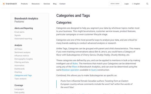Categories and Tags | Brandwatch