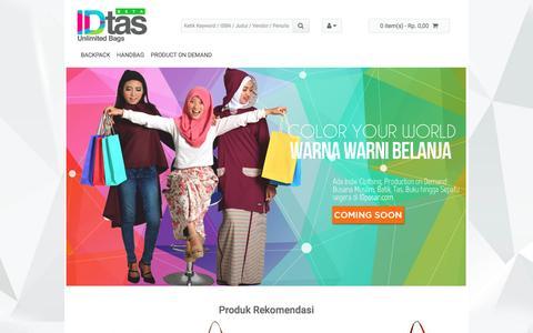 Screenshot of Home Page idtas.com - IDtas.com - Toko Online Tas Indonesia - captured May 3, 2017