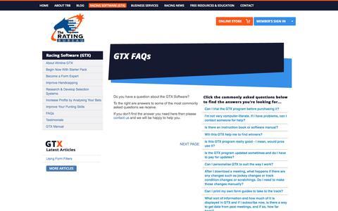 Screenshot of FAQ Page trb.com.au - FAQs - captured Oct. 9, 2014
