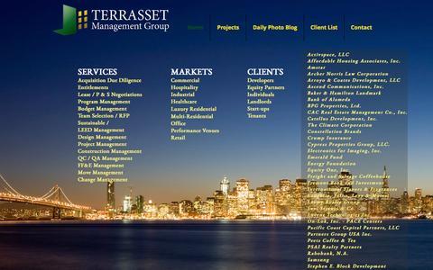 Screenshot of Home Page terrasset.net - Terrasset Management Group, LLC - captured Feb. 14, 2016