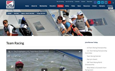 Screenshot of Team Page ussailing.org - Team Racing – United States Sailing Association - captured June 13, 2017