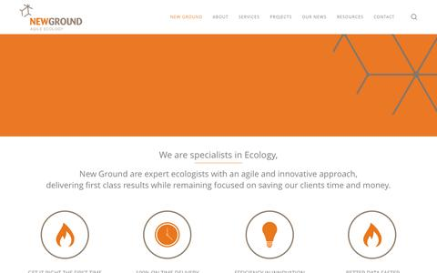 Screenshot of Home Page newground.com.au - New Ground | Expert Ecologists - captured Aug. 14, 2015