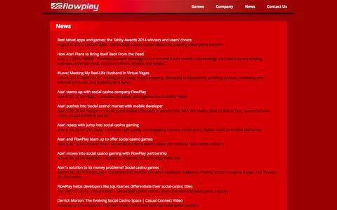 Screenshot of Press Page flowplay.com - Flowplay - captured Sept. 16, 2014