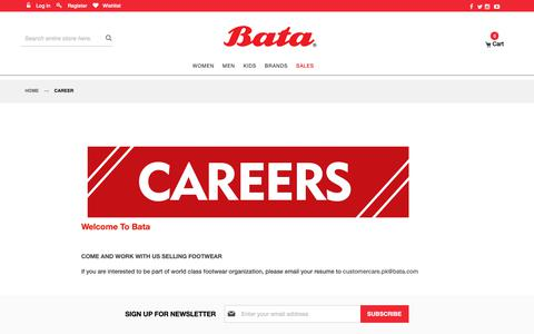 Screenshot of Jobs Page bata.com.pk - Career - captured June 14, 2019