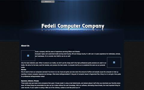 Screenshot of About Page fedcco.com - About Us - Fedeli Computer Company - captured Oct. 5, 2014