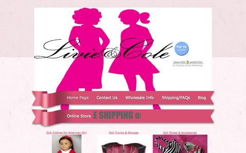 Screenshot of Home Page my18inchdoll.com - My 18 Inch Doll - Affordable Doll Clothes & Furniture Sized for American Girl - captured Oct. 2, 2014