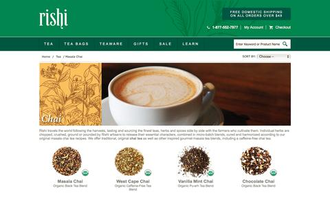 Buy Organic Masala Chai Tea | Rishi Tea
