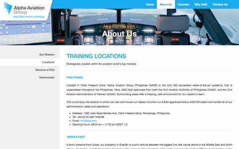 Screenshot of Locations Page aag.aero - Locations   Alpha Aviation Group - captured Oct. 4, 2014