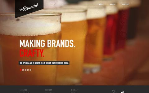 Screenshot of Home Page thebrandit.com - Home - The BrandIt - captured Oct. 7, 2014