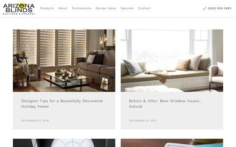 Screenshot of Blog azblinds.com - Blog   Arizona Blinds - captured Oct. 4, 2018