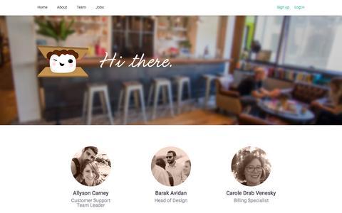Screenshot of Team Page smore.com - Smore - Team - captured Sept. 19, 2018