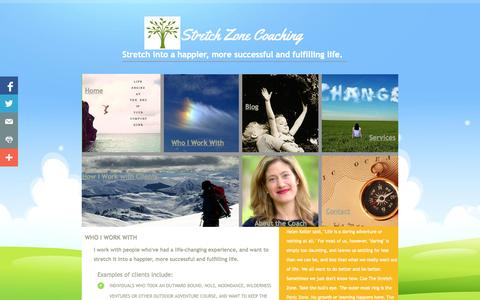 Screenshot of About Page Privacy Page stretchzonecoaching.com - Who I Work With - captured Oct. 25, 2014
