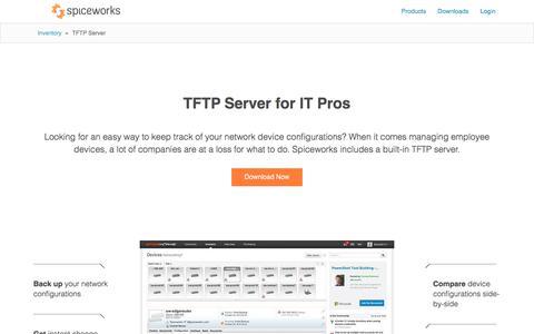 Free TFTP Server by Spiceworks