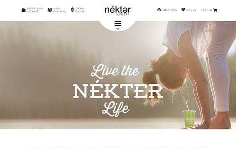 Screenshot of About Page nekterjuicebar.com - About Nekter Juice Bar | Nekter Juice Bar - captured Jan. 22, 2016