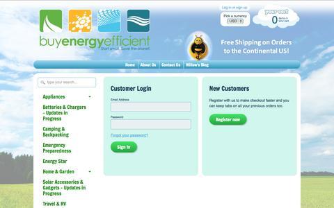 Screenshot of Login Page buyenergyefficient.org - Account – BuyEnergyEfficient.org - captured Sept. 30, 2014