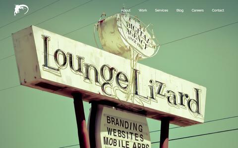 Screenshot of Home Page loungelizard.com - New York Website Design Company + Mobile App Developers | Lounge Lizard - captured Oct. 1, 2015