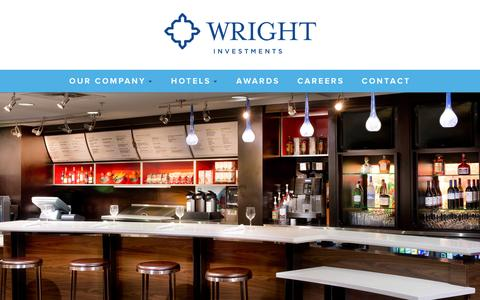 Screenshot of Home Page wrightinvestments.com - Wright Investment Properties | Hotel Management & Development - captured Feb. 15, 2016