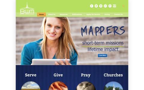 Screenshot of Home Page baptistworldmission.org - Baptist World Mission - Independent Baptist Mission Board - captured Dec. 29, 2015