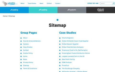 Screenshot of Site Map Page jdcooling.com - Sitemap - jdcooling.com - JD Cooling Group - captured Nov. 12, 2018