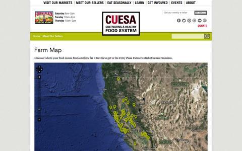 Screenshot of Maps & Directions Page cuesa.org - Farm Map | CUESA - captured Sept. 19, 2014