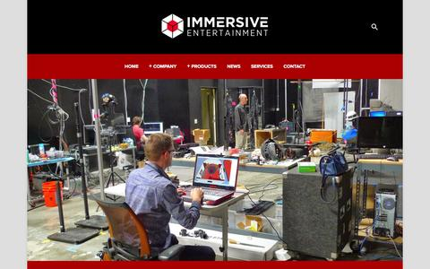 Screenshot of Jobs Page immersiveent.com - Careers — Immersive Entertainment - captured Feb. 10, 2016