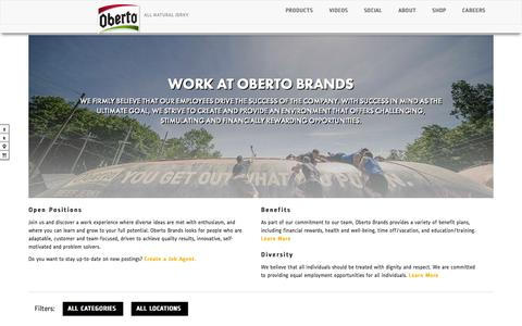 Screenshot of Jobs Page oberto.com - Careers - Oberto - captured Feb. 7, 2016