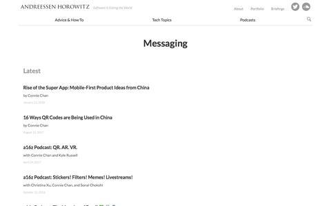messaging – Andreessen Horowitz