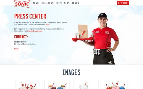 Screenshot of Press Page sonicdrivein.com - Press - Sonic | America's Drive-In - captured April 5, 2019